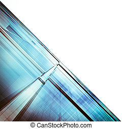 Abstract architecture white isolated
