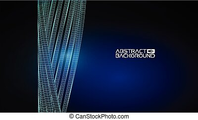 abstract architecture wireframe blueprint abstract background vector illustration