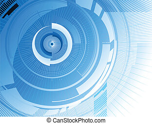Abstract arrow blue background. Vector