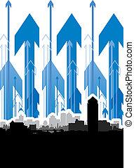 arrow cityscape