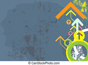 abstract arrow design on grunge background