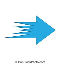 Abstract arrow icon. Vector illustration.