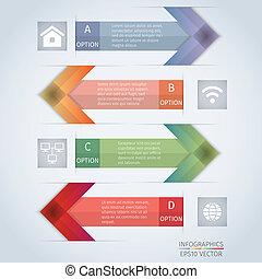 arrow infographics design