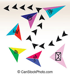 Abstract arrow pointer