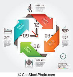 Abstract arrow work time management