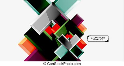 Abstract arrows composition background, vector