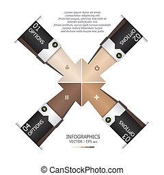 Abstract Arrows Handshake Design Template