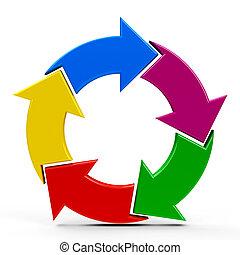 Abstract arrows icon #2