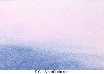Abstract art background light blue and purple colors. Watercolor painting on canvas with soft lilac gradient.