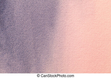 Abstract art background light pink and blue colors. Watercolor painting on canvas with soft purple gradient.