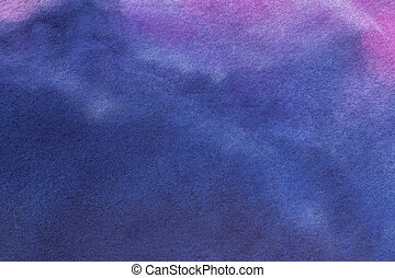 Abstract art background navy blue and purple colors. Watercolor painting on canvas with soft sapphire gradient.