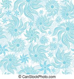 Abstract art blue vector flower
