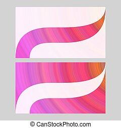Abstract art business card template design set