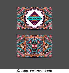 abstract art card template design