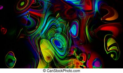 abstract art colorful ripple and stripes...