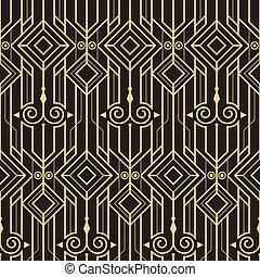 Abstract art deco modern seamless pattern