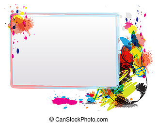 abstract art design with frame
