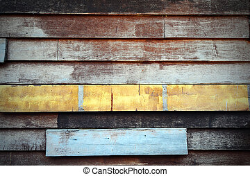 Abstract art grunge wood wall.