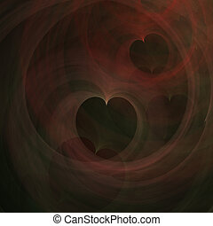 Abstract Art Hearts