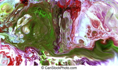 Abstract Art Ink Paint Blast Explode Turbulence
