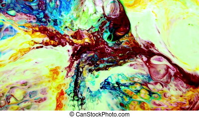 Abstract Art Ink Paint Explode