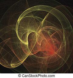 Abstract Art Magic Flame