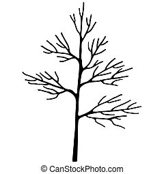 Abstract art tree black color