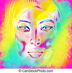 Abstract art, woman's face