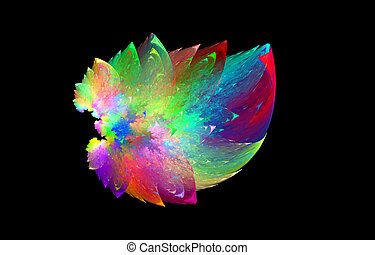 abstract artificial flower, rainbow diversity