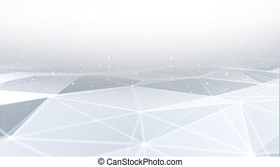 Abstract Artificial intelligence. Technology web Loop background Animation Clenan White. Virtual concept Medical technology or science background. Molecular structure and chemical compounds