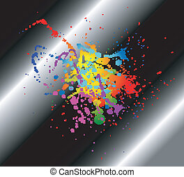 Abstract artistic black Background