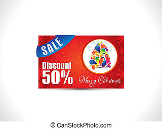 abstract artistic christmas discount card