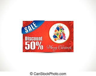 abstract artistic christmas discount card.eps - abstract...