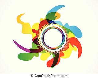 abstract artistic circle explode