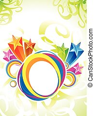 abstract artistic colorful circle explode