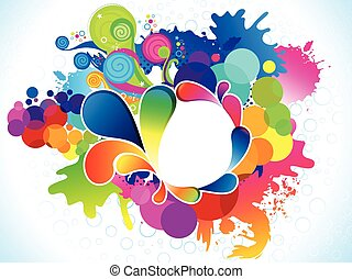 abstract artistic colorful explode