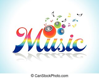 abstract artistic colorful music text