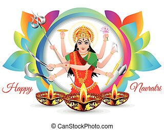 abstract artistic colorful navratra background - abstract ...