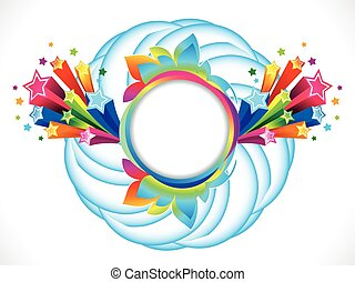 abstract artistic colorful rainbow circle explode