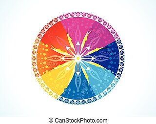 abstract artistic colorful rainbow circle