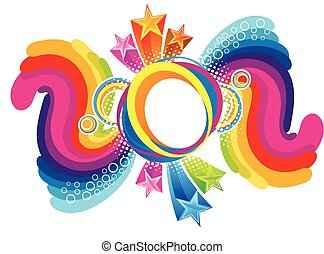 abstract artistic colorful rainbow explode