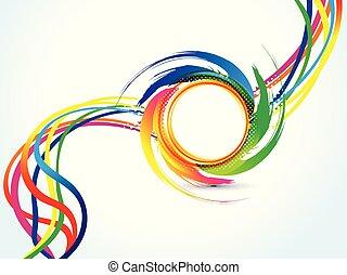 abstract artistic creative circle explode