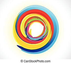abstract artistic creative colorful circle
