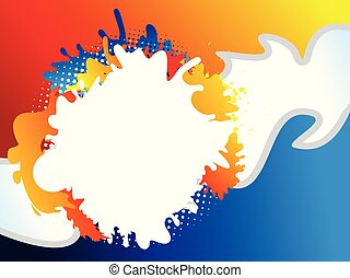 abstract artistic creative colorful explode.eps