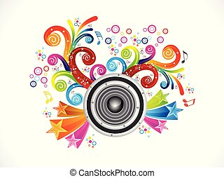 abstract artistic creative colorful music explode