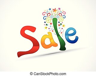 abstract artistic creative colorful sale text.eps