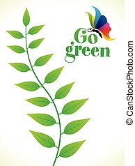 abstract artistic creative go green leaf.eps