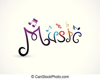 abstract artistic creative music text