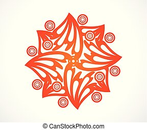abstract artistic creative orange floral