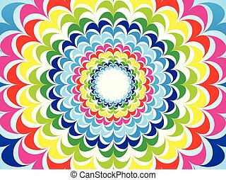 abstract artistic creative rainbow background
